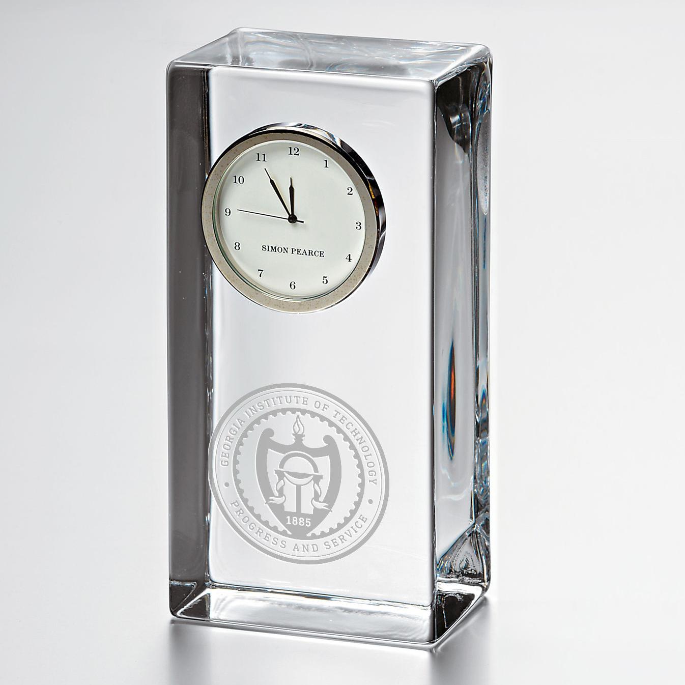 Georgia Tech Tall Desk Clock by Simon Pearce