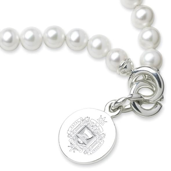 Naval Academy Pearl Bracelet with Sterling Silver Charm - Image 2
