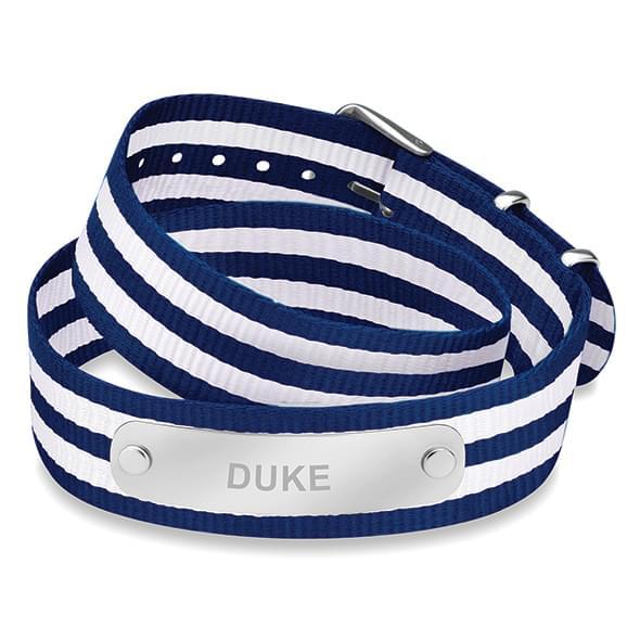 Duke University Double Wrap NATO ID Bracelet