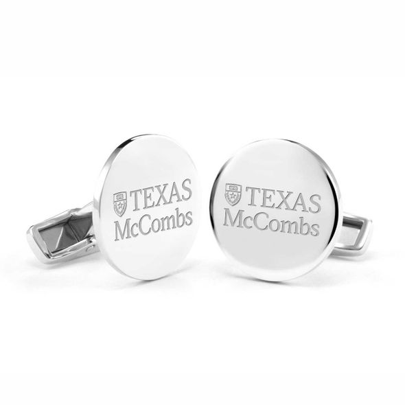 Texas McCombs Cufflinks in Sterling Silver - Image 1