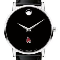 Ball State Men's Movado Museum with Leather Strap