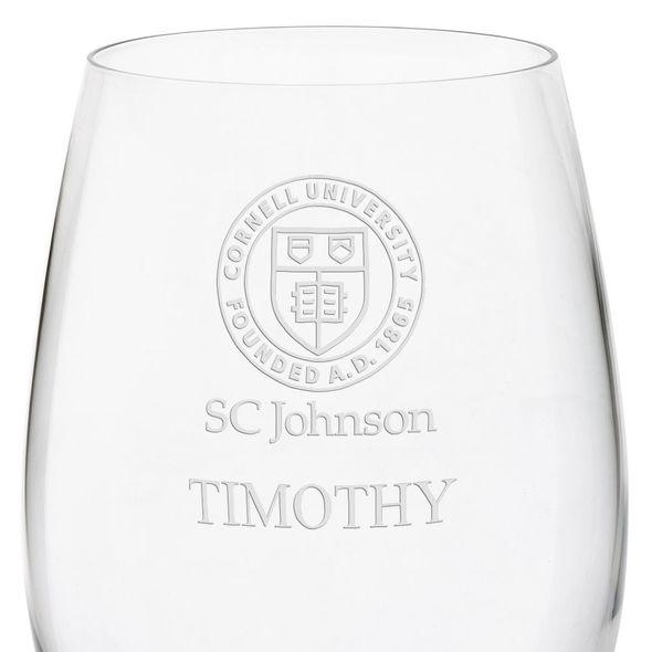 SC Johnson College Red Wine Glasses - Set of 4 - Image 3