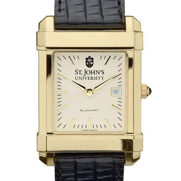 St. John's Men's Gold Quad with Leather Strap - Image 1