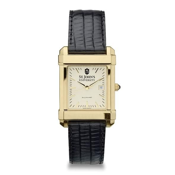 St. John's Men's Gold Quad with Leather Strap - Image 2