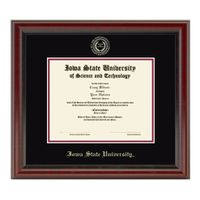 Iowa State University Masters Diploma Frame, the Fidelitas