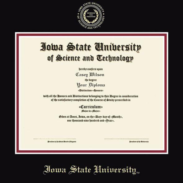 Iowa State University Masters Diploma Frame, the Fidelitas - Image 2
