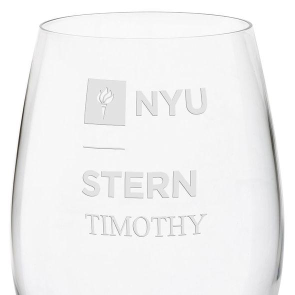 NYU Stern Red Wine Glasses - Set of 4 - Image 3