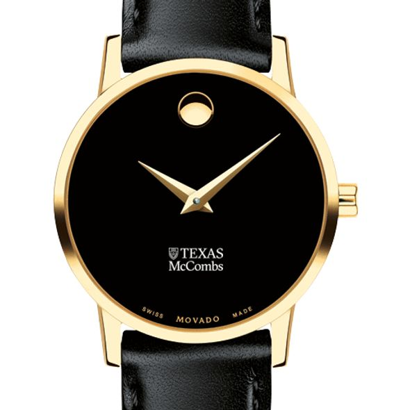Texas McCombs Women's Movado Gold Museum Classic Leather - Image 1