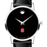 NC State Women's Movado Museum with Leather Strap