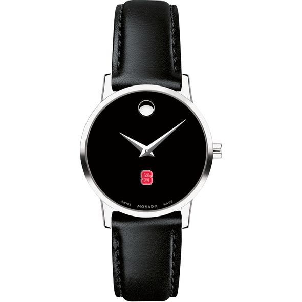 North Carolina State Women's Movado Museum with Leather Strap - Image 2