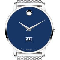 Saint Louis University Men's Movado Museum with Blue Dial & Mesh Bracelet