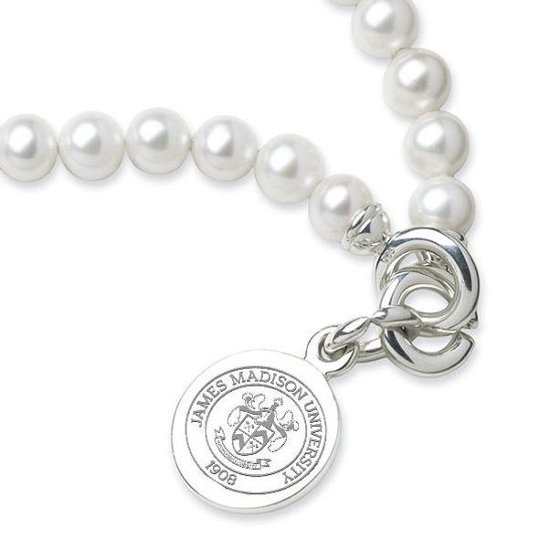 James Madison Pearl Bracelet with Sterling Silver Charm - Image 2