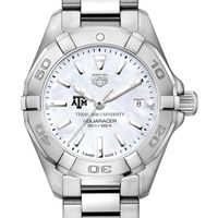 Texas A&M University Women's TAG Heuer Steel Aquaracer w MOP Dial