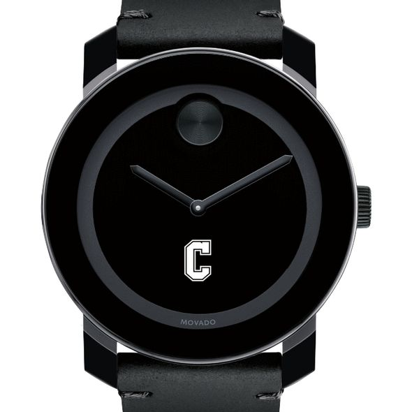 College of Charleston Men's Movado BOLD with Leather Strap
