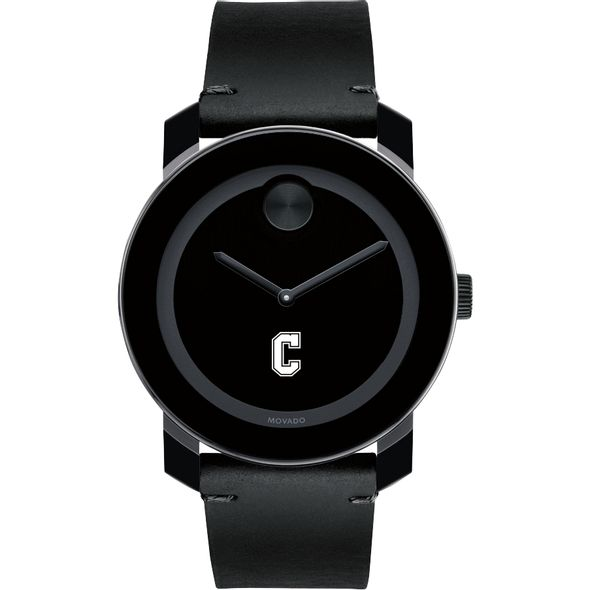 College of Charleston Men's Movado BOLD with Leather Strap - Image 2