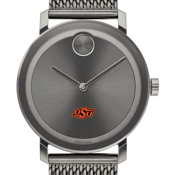 Oklahoma State University Men's Movado BOLD Gunmetal Grey with Mesh Bracelet