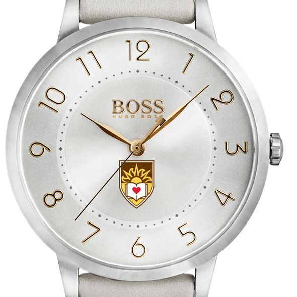 Lehigh University Women's BOSS White Leather from M.LaHart - Image 1