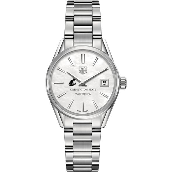 Washington State University Women's TAG Heuer Steel Carrera with MOP Dial - Image 2