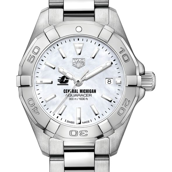 Central Michigan Women's TAG Heuer Steel Aquaracer w MOP Dial