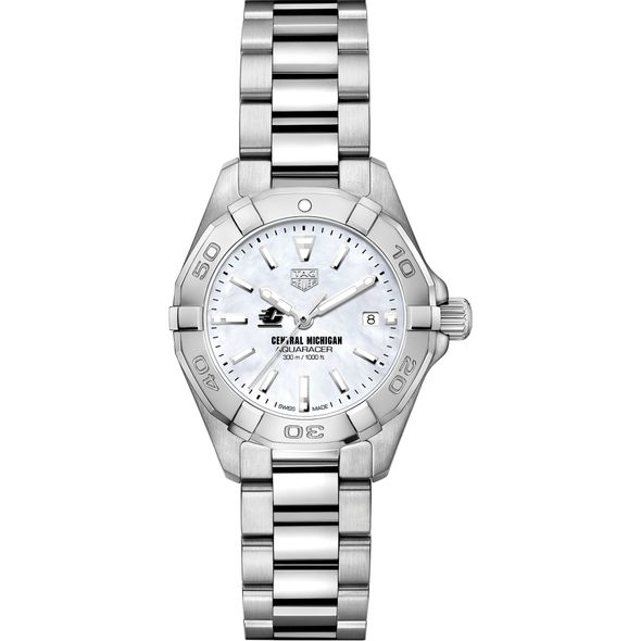 Central Michigan Women's TAG Heuer Steel Aquaracer w MOP Dial - Image 2