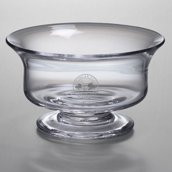 Michigan State Simon Pearce Glass Revere Bowl Med