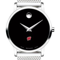 University of Wisconsin Women's Movado Museum with Mesh Bracelet