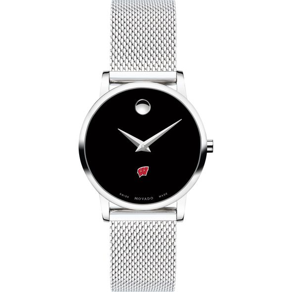 University of Wisconsin Women's Movado Museum with Mesh Bracelet - Image 2