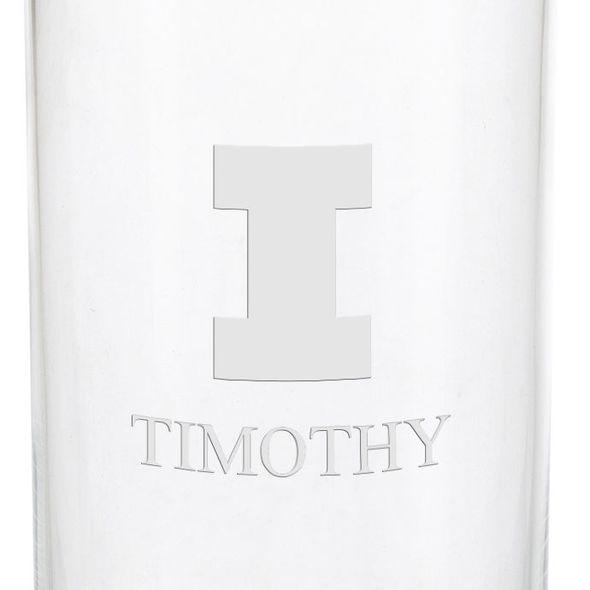University of Illinois Iced Beverage Glasses - Set of 2 - Image 3