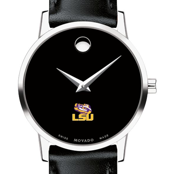 Louisiana State University Women's Movado Museum with Leather Strap - Image 1
