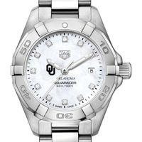 University of Oklahoma W's TAG Heuer Steel Aquaracer w MOP Dia Dial