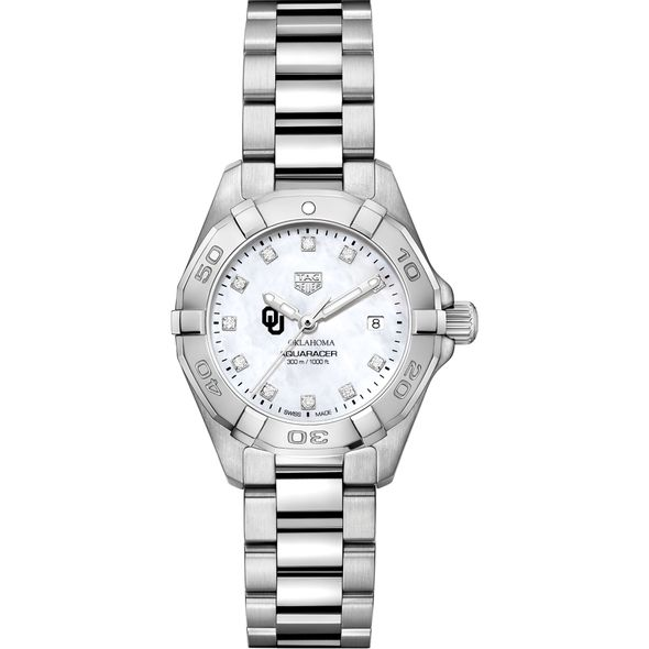 Oklahoma Women's TAG Heuer Steel Aquaracer with MOP Diamond Dial - Image 2