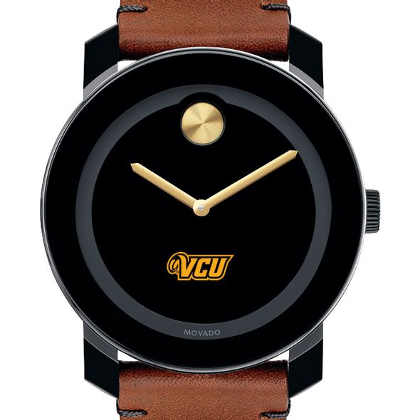 Virginia Commonwealth University Men's Movado BOLD with Brown Leather Strap