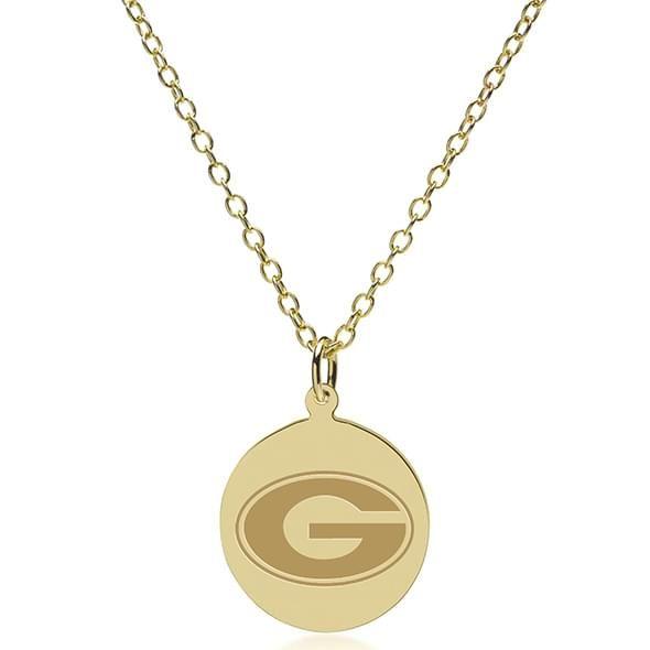 Georgia 18K Gold Pendant & Chain - Image 2