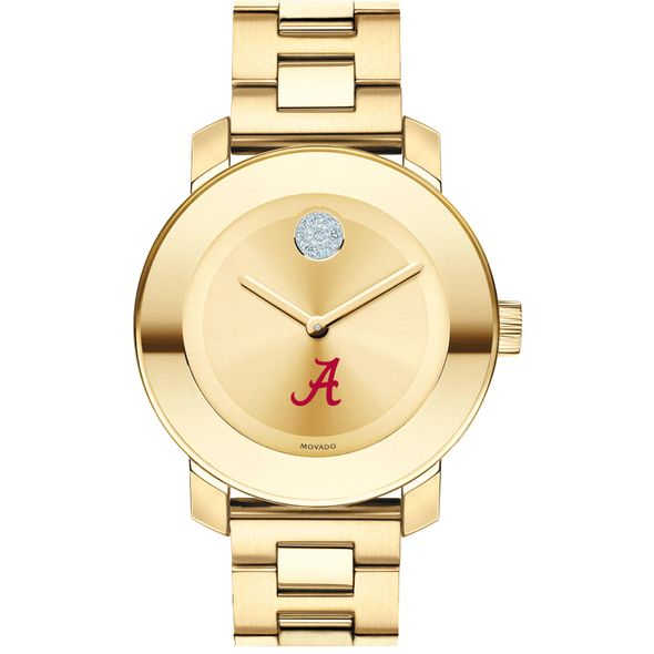 University of Alabama Women's Movado Gold Bold - Image 2