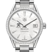 Wharton Women's TAG Heuer Steel Carrera with MOP Dial & Diamond Bezel