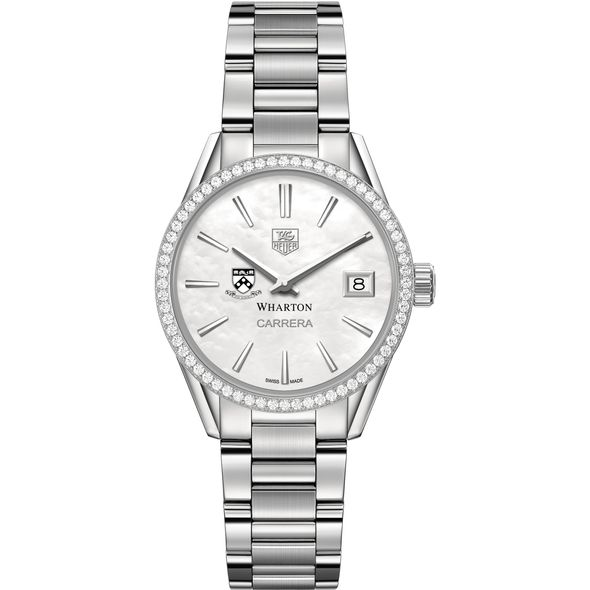 Wharton Women's TAG Heuer Steel Carrera with MOP Dial & Diamond Bezel - Image 2
