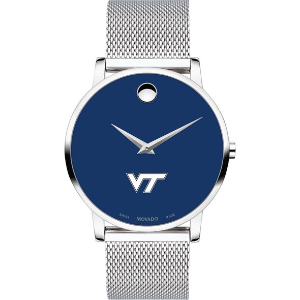 Virginia Tech Men's Movado Museum with Blue Dial & Mesh Bracelet - Image 2