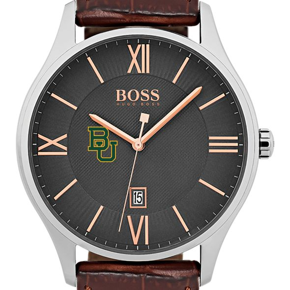 Baylor University Men's BOSS Classic with Leather Strap from M.LaHart - Image 1