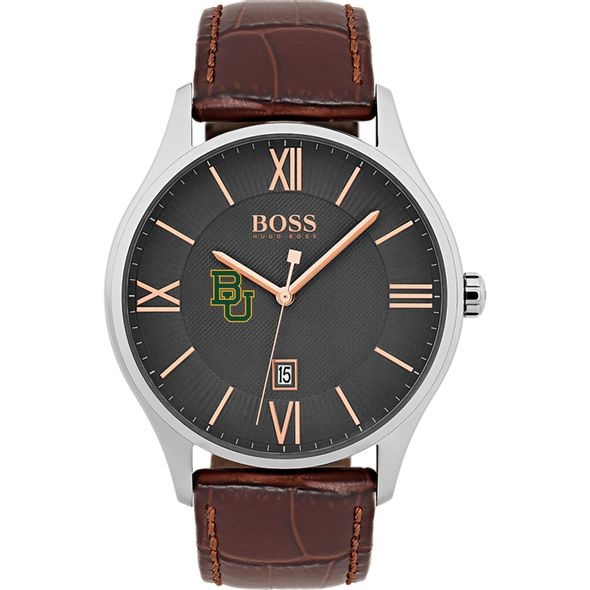Baylor University Men's BOSS Classic with Leather Strap from M.LaHart - Image 2