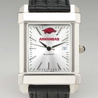 University of Arkansas Men's Collegiate Watch with Leather Strap