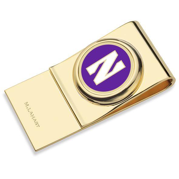 Northwestern University Enamel Money Clip