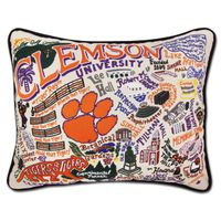 Clemson Embroidered Pillow