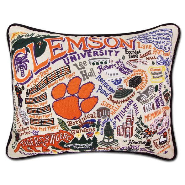 Clemson Embroidered Pillow
