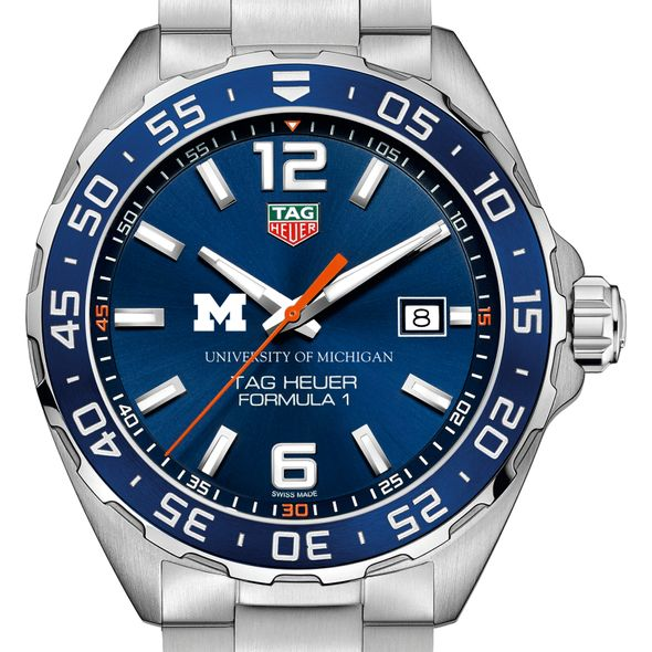 University of Michigan Men's TAG Heuer Formula 1 with Blue Dial & Bezel - Image 1