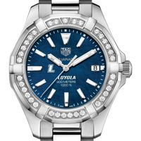 Loyola Women's TAG Heuer 35mm Steel Aquaracer with Blue Dial