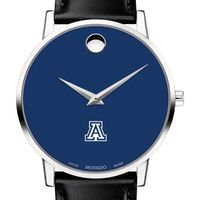 University of Arizona Men's Movado Museum with Blue Dial & Leather Strap