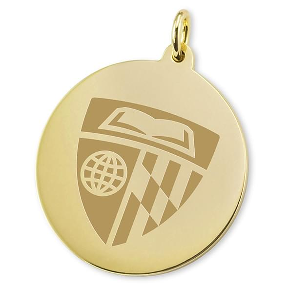 Johns Hopkins 18K Gold Charm