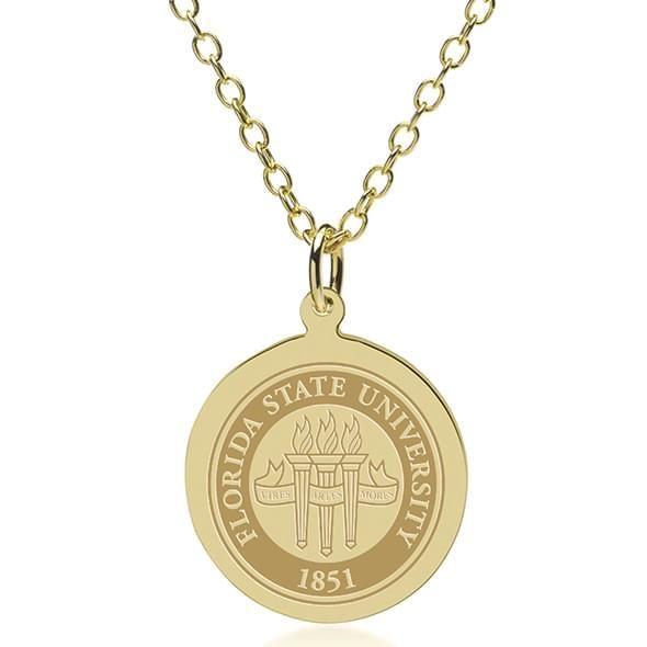 Florida State 18K Gold Pendant & Chain - Image 1