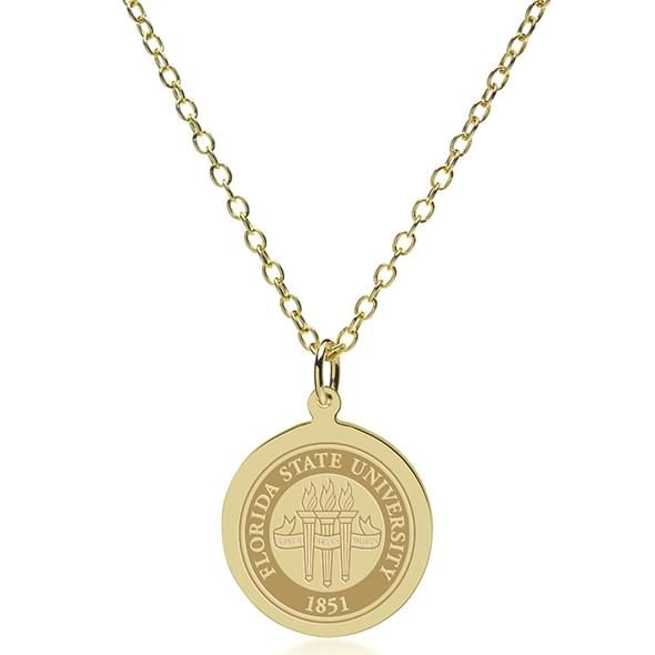 Florida State 18K Gold Pendant & Chain - Image 2