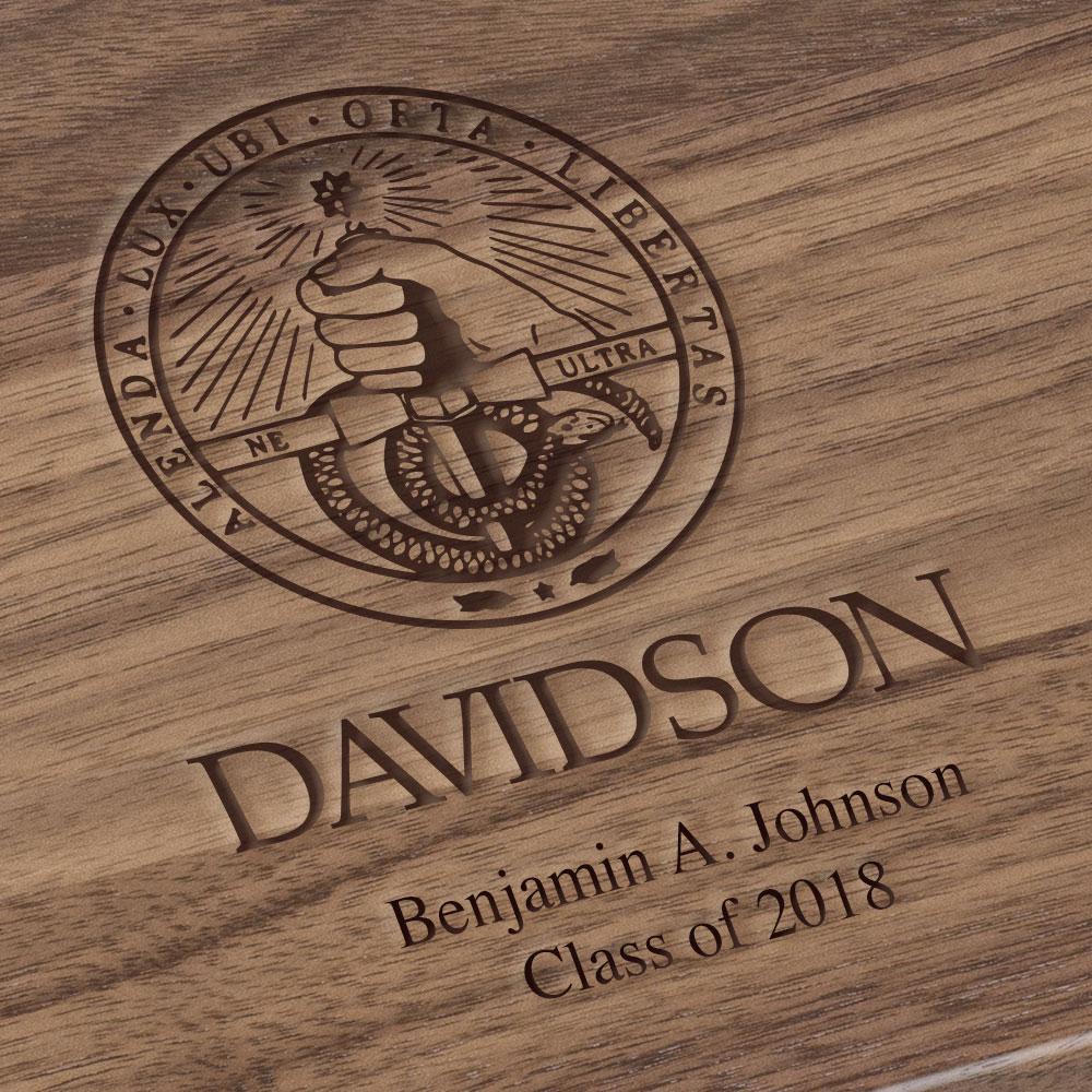 Davidson College Solid Walnut Desk Box - Image 3